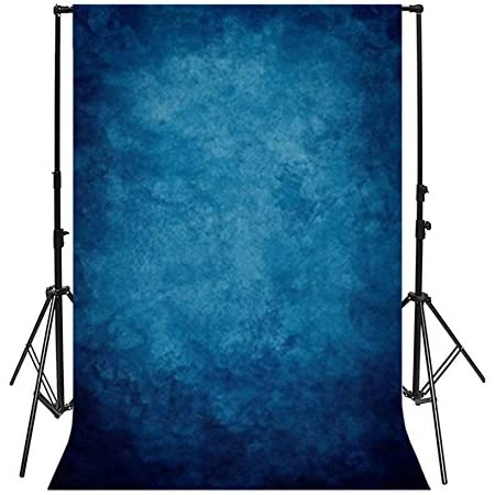 Romantic Wedding Background Solid Photography Backdrop Blue Texture Background Dark Blue Photo Shoot Prop 2ft 61cm