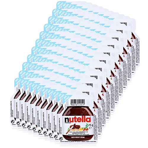 Ferrero Nutella Mini Brotaufstrich Schokolade 15g-Nuss-Nougat-Creme (110er Pack)