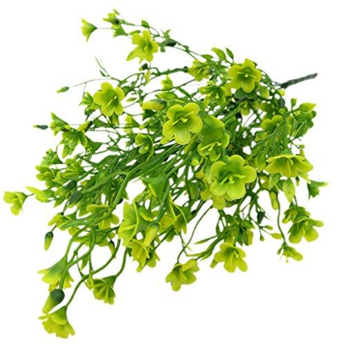 Baoblaze Artificial Valentine Flower Bouquet Fake Plants - Yellow & Green, 35x10x3cm
