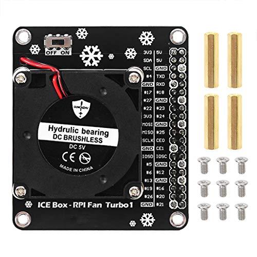 para Raspberry Pi 4B Módulo de Ventilador de refrigeración LED Placa de expansión GPIO Compatible para Raspberry Pi 4 Modelo B / 3B + / 3B / 3A +