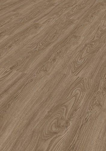 Tepcor Klick Vinylboden Premium Vinylbodenbelag mit Klicksystem Pflegeleichte und wasserfeste Vinyl Bodenbeläge in vielen verschiedenen Farben (Dark Oak)