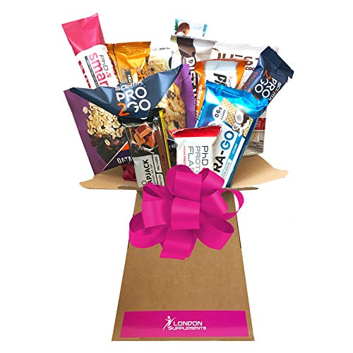 Protein Bars 12 Pieces Luxuary Tree Explosion Gift Hamper Basket Selection Box - Father's Day Perfect Gift Arrangement (Large) Grenade Carb Killa, Nutramino, PhD Nutrition