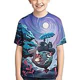 LJSJISDMWQS Totoro - Camiseta de manga corta para niñas con cuello redondo, ligera, cuello redondo, camiseta clásica