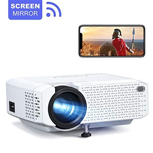 Rétroprojecteur Crosstour WiFi Portable Videoprojecteur Telephone Miroir d'écran 1080P Full HD Supporté Multimédia Home...