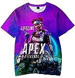 Apex Legends ボーイズ Tシャツ 3Dプリント エーペックスレジェンズ キャラクター ト 半袖 シャツ