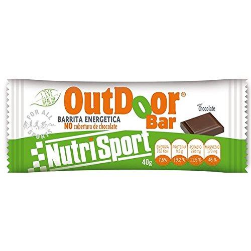 Nutrisport Caja 20 Barritas Outdoor Chocolate 100 g