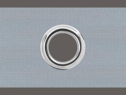 Unbekannt Ösenband 10 cm breit Zugabe variabel, Farbe: grau