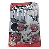 Zhou-YuXiang 13 Pz/Set Stoviglie Rosse Simulazione Utensili da Cucina Cucchiaio da Cucina Coltello da Cucina Spatola Fai Finta di Giocare Giocattoli per Bambini