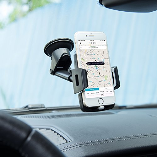 Amoner Dashboard Car Phone Holder, Car Mount Cradle with 4in to 6.5in Telescopic Arm and 180 Degree Rotation for iPhone X 8 7 6S 6 Galaxy S10 S9 S8 S7 S6 GPS