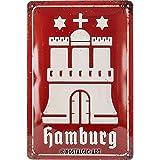 Nostalgic-Art Retro Blechschild Hamburg – Wappen antik
