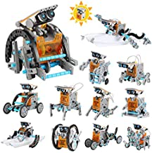 Lucky Doug Solar Robot Kit 12-in-1 Science STEM Robot Kit Toys for Kids Aged 8-12 and Older, Science Building Set Gifts for Boys Girls Students Teens, Educational DIY Assembly Kit with Solar Powered
