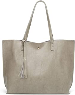 COAFIT Women's Tote Bag Tassel Large Tote Handbag Top Handle Bag
