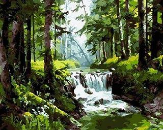 H/H Forêt Naturelle Paysage Art Peinture Affiche Décoration De La Maison Peinture Mode Bar Café Toile Art Peinture À l'hui...