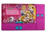 Astuccio per bambini con personaggi preferiti, con astuccio multiscomparto per matite per bambini, dotato di calcolatore e affilatore (Principessa Disney)