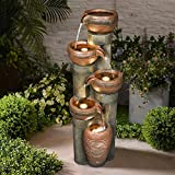 It was made from resin net with full of fiberglass. Features the indoor and outdoor fountain with the most durable and very lightweight function, as well as good weather adaptability. Portable to be moved and placed in anywhere where you want to deco...