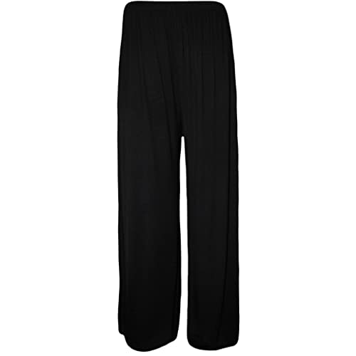 053972af5c94c Fashion Oasis NEW LADIES WOMENS STANDARD & PLUS SIZE PLAIN & FLORAL PRINT  PALAZZO WIDE LEG