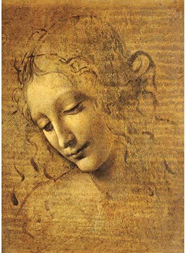FPRW Puzzle da 1000 Pezzi per Adulti e Bambini - Famoso Dipinto ad Olio Leonardo da Vinci Puzzle La Scapigliata - Puzzle di Arte per Adulti 11000 Pezzi Regalo Giocattolo