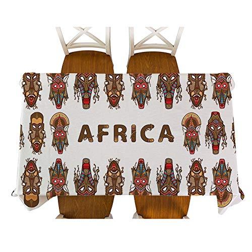 XXDD Decoración de Estilo Africano de Dibujos Animados Animal Elefante Personaje Figura Mantel Mantel Mesa de Comedor decoración Mantel A12 135x200cm