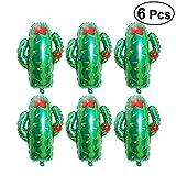 Toyvian Globos de Cactus Gigantes de 28 '| Globo de Fiesta de Cactus de Papel de 6 Piezas - Decoración de Fiesta de cumpleaños de Tacos, Suministro de Fiesta Mexicana