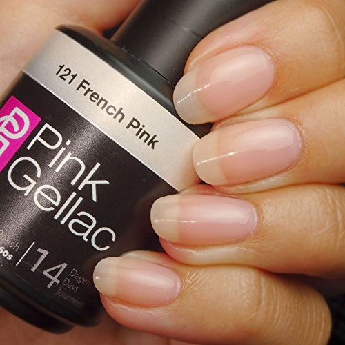 PINK GELLAC Shellac Gel Nagellack 15 ml für UV LED Lampe | 121 French Pink rosa rose pink | Gel Nail Polish for UV Nail Lamp pink | LED Nagel Lack Gellack Nagelgel