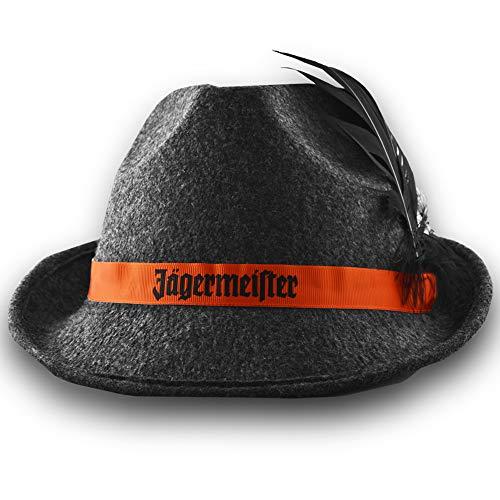 BestPlug Original Jägermeister Hut Trachtenhut Jägerhut Filzhut mit 2 schwarzen Federn