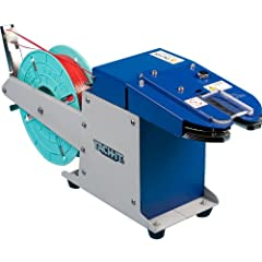"""Semi-Automatic Twist Tie Machine 3/8"""" to 1 3/8"""" adjustable tying capacity 4 twist extra tight closure All Steel Heavy Duty Construction Easy to load and use."""