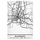 artboxONE Poster 30x20 cm Städte Bangkok Thailand Black