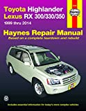 Toyota Highlander and Lexus RX 300/330/350 Repair Manual 1999-2014