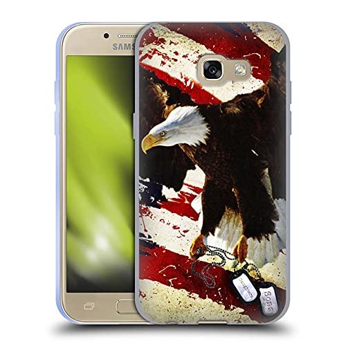Head Case Designs Licenza Ufficiale Jason Bullard Il Prezzo della libertà America Cover in Morbido Gel Compatibile con Samsung Galaxy A3 (2017)