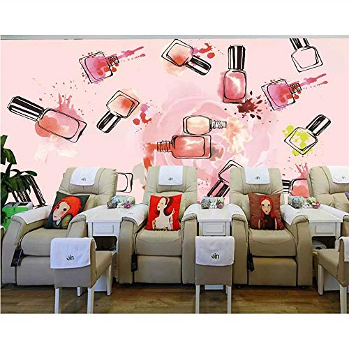 Pmhc klantspecifieke behangmuurfoto van de foto roze nagellak tv-sofa De romantische persoonlijkheid decoratieve schilderkunst achtergrond 280 x 200 cm.
