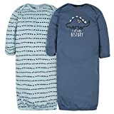 Gerber Baby Boys' 2-Pack Gown, Dinosaur/History, 0-6 Months