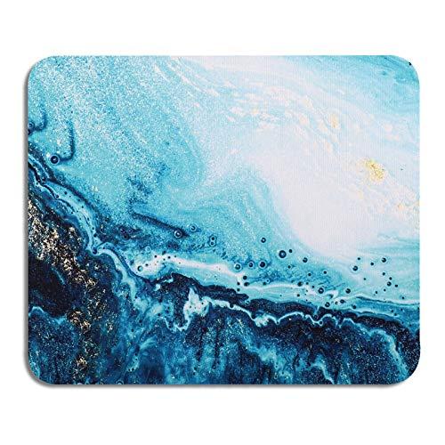 AOKSUNOVA Tapis de Souris Office Petit Design Mignon 24 x 20 x 0,3 cm Tapis de Souris avec Motif Bleu