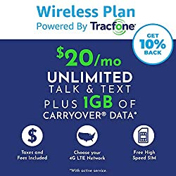 cheap With a $ 20 / month Tracfone subscription, unlimited calls, text messages, 1 GB of data, portable data …