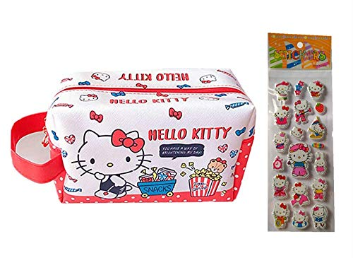 Hello Kitty Gift Hello Kitty Cosmetic Bag Makeup Bag for Travel Brushes Accessories (Multi)