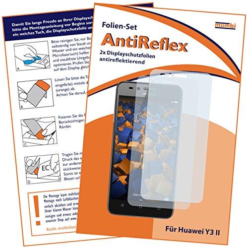 Schutzfolie kompatibel mit Huawei Y3 II Folie matt, Displayschutzfolie (2X)