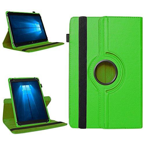 NAmobile Tablet 360° Drehbar Hülle für Odys Wintab Ares 9 Tasche Schutzhülle Hülle Cover, Farben:Grün