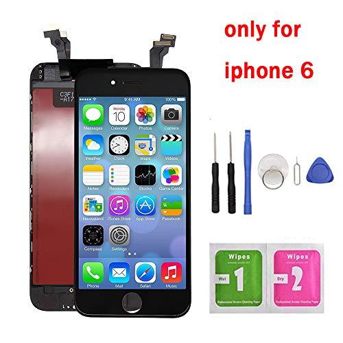 "Hoonyer Pantalla Táctil LCD para iPhone 6 4.7"" Reemplazo Pantalla LCD Pantalla Táctil de Repuesto con Herramientas (Negro)"