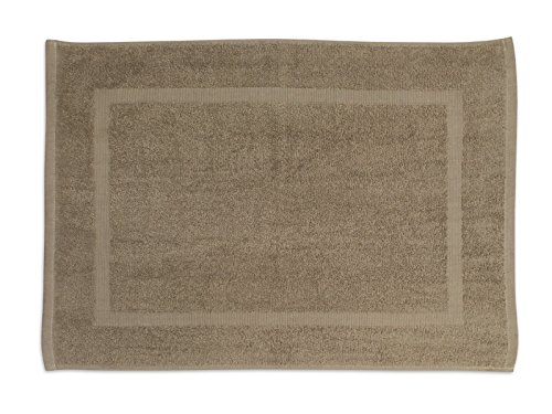 Soleil d'Ocre 477041 Tapis de Bain Coton Ecru/Taupe 50 x 70 cm