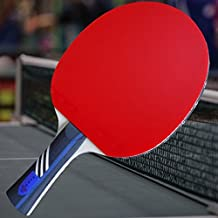 Gambler Custom Professional Table Tennis Paddle with AC Hero Mega Weave Arylate Carbon Blade and Aces Rubber plus Blue Case