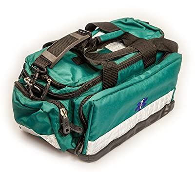 Green Kitted Trauma Paramedic Response Bag with Free Printing by Medipouch … from Medipouch