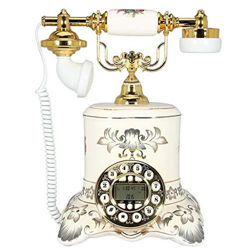 AODXI keramiek wit handgeschilderd retro telefoon landschap Europese telefoon kantoor woonkamer slaapkamer hotel identificatie oproepen telefoon vast