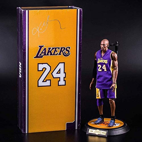WaWeiY Kobe Bryant Action Figure Laker Jersey Popular Basketball Player Model Kit Exquisite Packaging