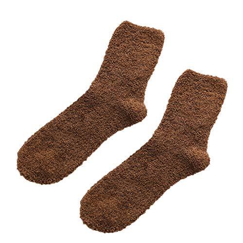 IFOUNDYOU Männer Volltonfarbe Strümpfe Korallenrotes Vlies Nähen Socken Socken Winter Baumwollsocken Verdicken Rutschfest Korallenrotes Vlies Boden Socken Teppichsocken 2019 neu Socken