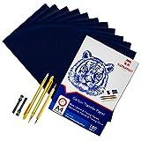 Raimarket 105 piezas incluye 100 papel carbón azul, 5 papeles de calco, 2 portaminas y 1 juego de...