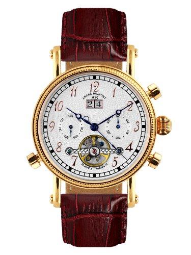 André Belfort 410001 - Reloj analógico de caballero automático con correa de piel...
