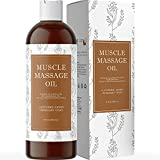 Aromatic Sore Muscle Massage Oil - Aromatherapy Massage Oil for Massage Therapy with Lavender Jojoba and Sweet Almond Oil for Skin Care and Foot Therapy - Scented Essential Oil for Muscles and Joints