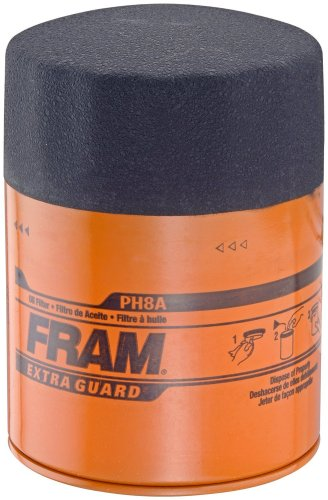 Fram PH8A Extra Guard Passenger Car Spin-On Oil Filter (Pack of 2)