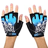 SHIVEXIM® Riding Printed Half Finger Gloves,Anti-Skid Silicone Gloves for Cycling Fitness Cycling Gloves