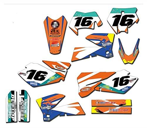Tatumyin Fondos de gráficos de Motocicleta Fondos Gráficos Calcomanías Pegatinas Kits para K*T*M ECC 125 200 250 300 400 450 525 2003 hnszf (Color : Red)