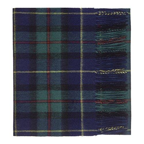 Oxfords Cashmere Pañuelo de tartán de lujo, de lana de cordero Verde verde Talla única